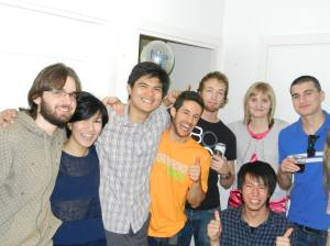 With some of my SpoSMaPro mates at Miguel's birthday party