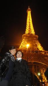 Micay with her mom in Paris