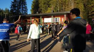 The Aerobics class with a firewood - a fun way to stay active